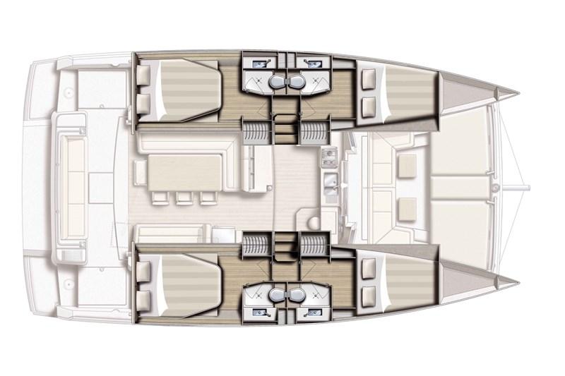 Yacht Charter, Bali 4 1 (4cab), Zeiljacht, Catamaran, Catana